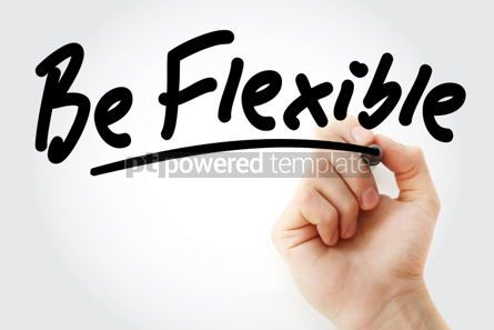 Business: Be Flexible text with marker #01460