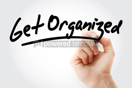 Business: Get Organized text with marker #01461