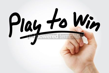 Business: Play to Win text with marker #01462