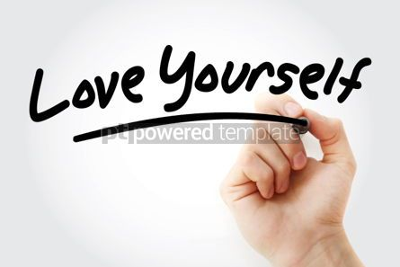 Business: Love Yourself text with marker #01465