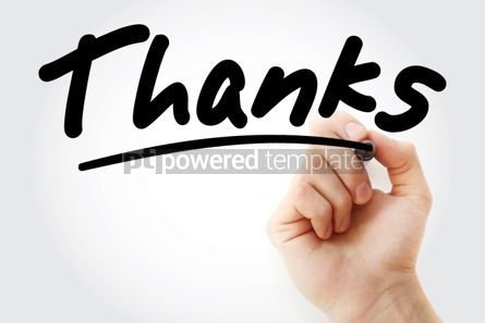 Business: Thanks text with marker #01474