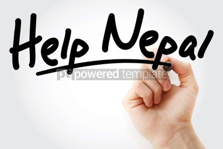 Business: Help Nepal text with marker #01478