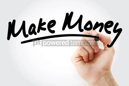 Business: Make money text with marker #01479