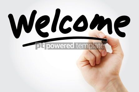 Business: Welcome text with marker #01480