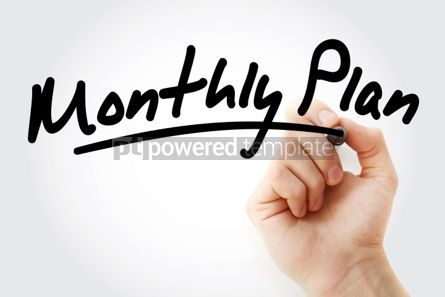 Business: Monthly Plan text with marker #01484
