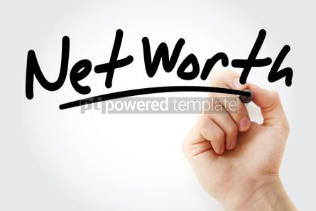 Business: Net Worth text with marker #01495