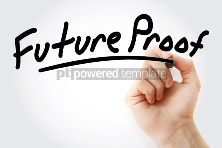Business: Future Proof text with marker #01499