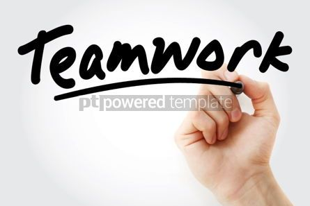 Business: Teamwork text with marker #01500