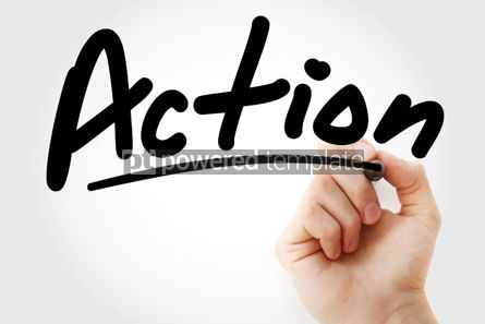 Business: Action text with marker #01502