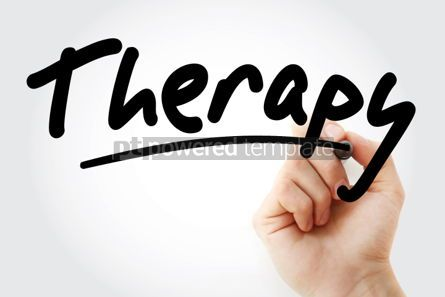 Business: Therapy text with marker #01503