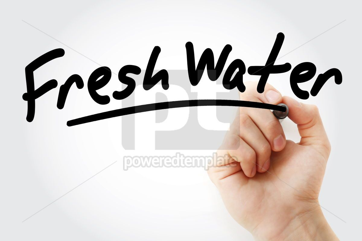 Fresh Water text with marker, 01505, Business — PoweredTemplate.com