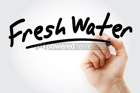 Business: Fresh Water text with marker #01505