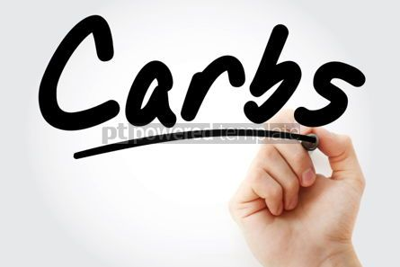 Business: Carbs text with marker #01506