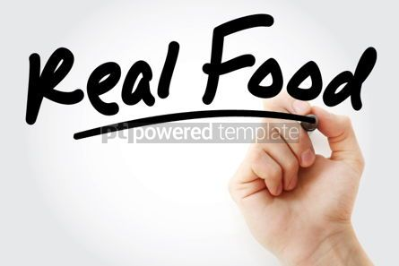 Business: Real Food text with marker #01510