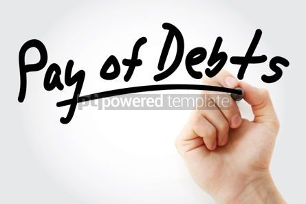 Business: Pay of debts text with marker #01521
