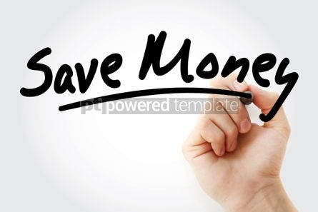 Business: Save Money text with marker #01522