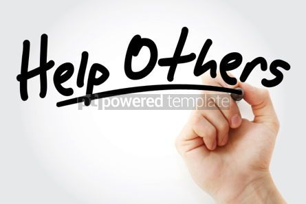 Business: Help Others text with marker #01523