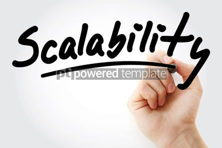 Business: Scalability text with marker #01543