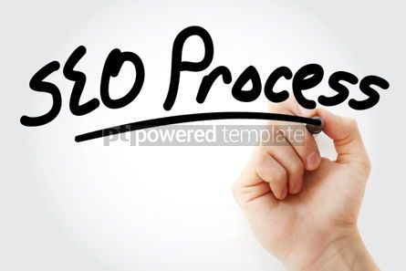 Business: SEO process text with marker #01544