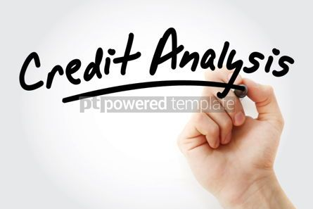 Business: Hand writing Credit Analysis with marker #01554