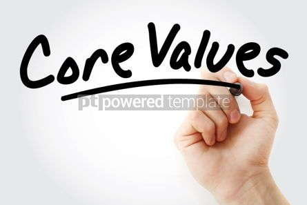 Business: Hand writing Core Values with marker #01555