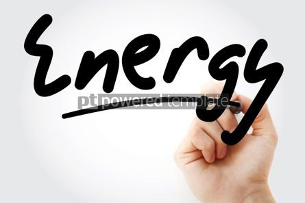 Health: Hand writing Energy with marker #01557
