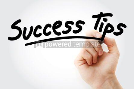 Business: Foto - mão escrevendo dicas de sucesso com marcador #01560