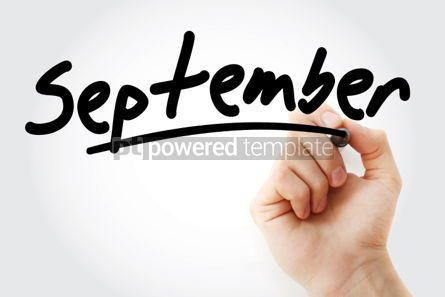 Business: Hand writing September with marker #01563