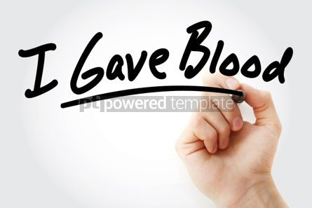 Health: Hand writing I Gave Blood with marker #01565