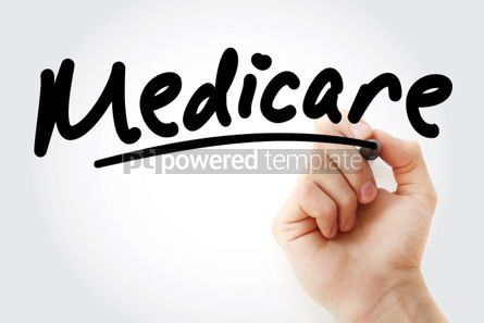 Business: Hand writing Medicare text with marker #01570