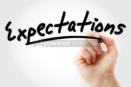 Business: Hand writing Expectations with marker #01571
