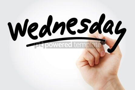 Business: Hand writing Wednesday with marker #01575