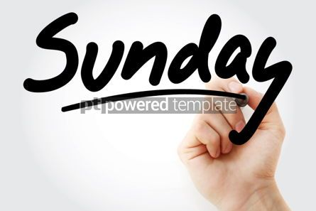 Business: Hand writing Sunday with marker #01579