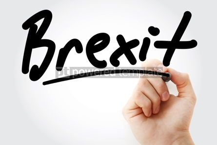 Business: Hand writing Brexit with marker #01581