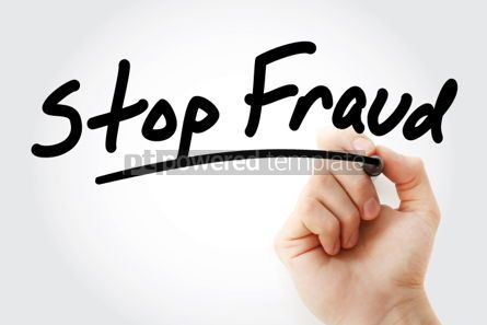 Business: Hand writing Stop Fraud with marker #01587