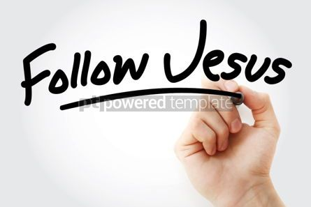 Business: Hand writing Follow Jesus text with marker #01588