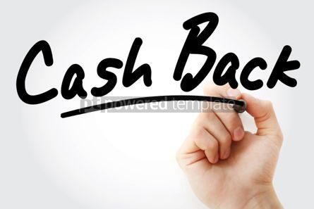 Business: Hand writing Cash Back with marker #01589