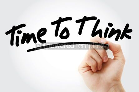 Business: Hand writing Time To Think with marker #01590