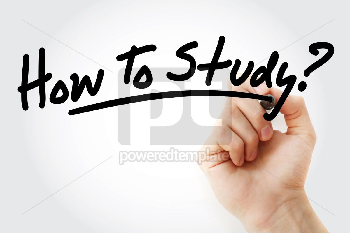 Hand writing How To Study text with marker, 01598, Business — PoweredTemplate.com