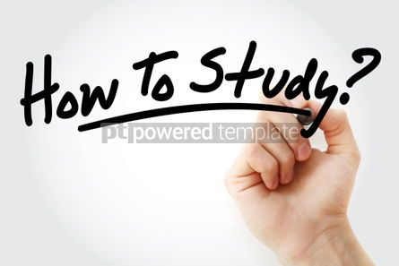 Business: Hand writing How To Study text with marker #01598