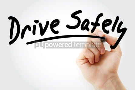 Business: Hand writing Drive Safely with marker #01602