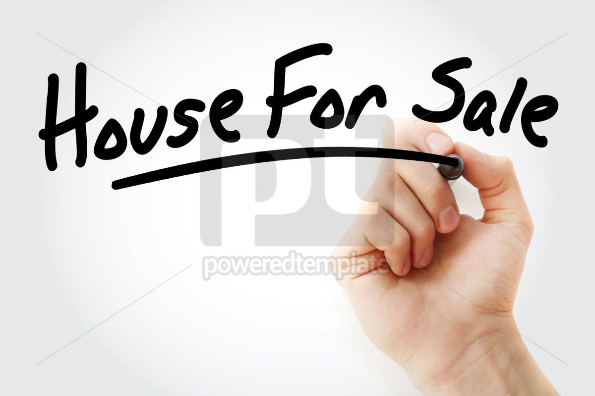 Hand writing House For Sale text with marker, 01606, Business — PoweredTemplate.com