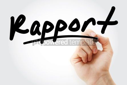 Business: Hand writing Rapport with marker #01615