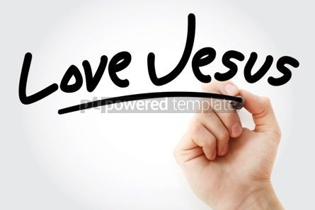 Business: Hand writing Love Jesus text with marker #01616