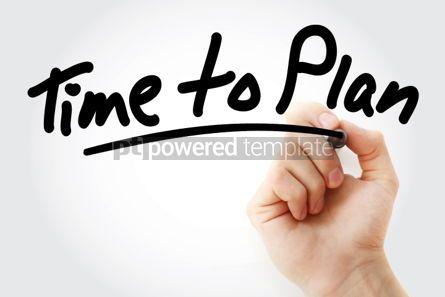 Business: Foto - mão escrevendo tempo para planejar o texto com marcador #01618