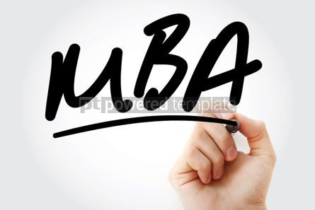 Business: Hand writing MBA with marker #01626