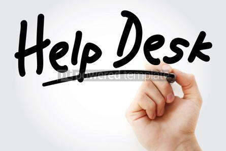 Business: Photo main écrit help desk avec marqueur #01627
