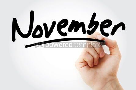 Business: Hand writing November with marker #01628