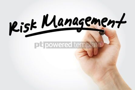 Business: Hand writing Risk Management with marker #01631