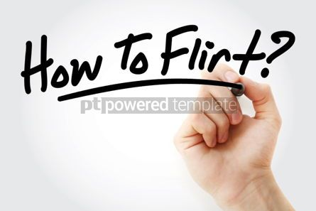 Business: Hand writing How To Flirt with marker #01633